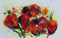 Feuer, Abstrakt, Blumen, Farben