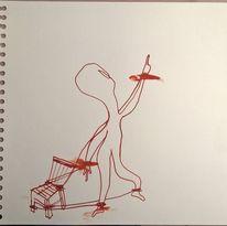 Stuhl, Stuhlmännchen, Freiheit, Malerei