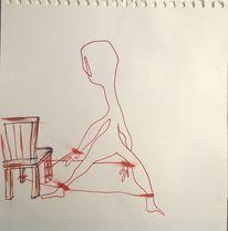 Freiheit, Stuhlmännchen, Stuhl, Malerei