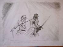 Schwert, Freundschaft, Mann, Kampf
