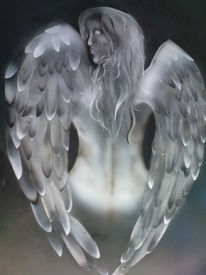 Flügel, Engel, Feder, Malerei