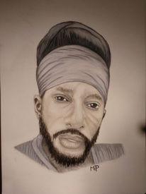 Pastellmalerei, Portrait, Reggae, Zeichnungen