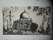 Taj mahal, Bauwerk, Edding, Malerei