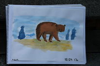 Bär, Wasserfarben, Zeichnungen
