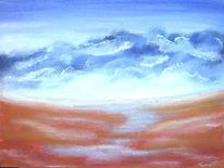 Landschaft, Tal, Weite, Malerei