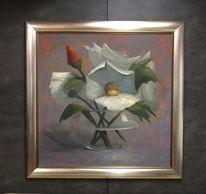 Wasser, Blumen, Vase, Malerei