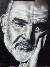 Portrait, Acrylmalerei, Mann, Malerei