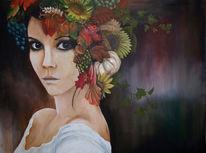 Natur, Frau, Blick, Herbst