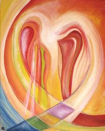 Regenbogen, Spirituell, Acrylmalerei, Geist