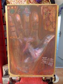 Kultur, Freundschaft, Halten al qing, Acrylmalerei