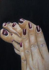Füss, Hand, Finger, Malerei