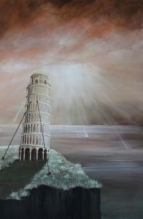 Malerei, Lichtblicke, Turm