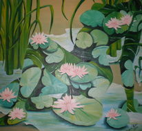 Seerosen, Akt, Wasserlilien, Wasser