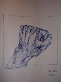 Faust, Hand, Finger kugelschreiber, Zeichnungen