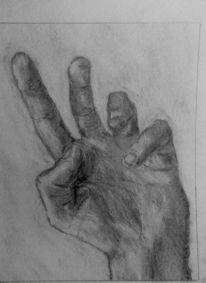 Hand, Bleistiftzeichnung, Finger, Zeichnung