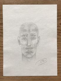 Mann, Glatze, Skurril, Zeichnungen