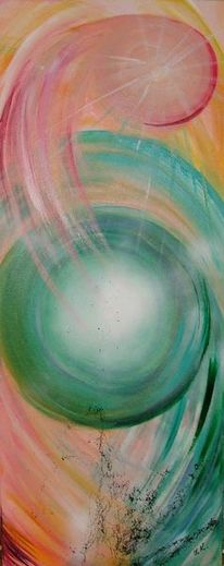 Acrylmalerei, Abstrakt, Energie, Malerei