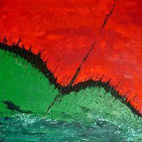 Rot, Schwarz, Grün, Malerei