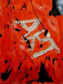Ausdruck, Rot, Abstrakt, Malerei