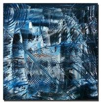 Blau, Wrongturn, Ölmalerei, Malerei