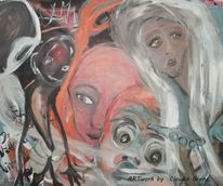 Armut, Menschen, Gesellschaft, Acrylmalerei