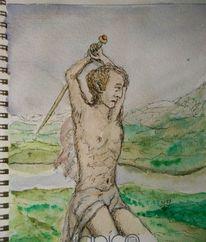 Freiluftmalerei, Drache, Obermylau, Kriegsdenkmal