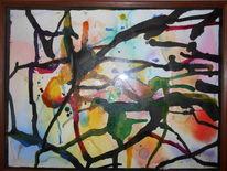 Tusche, Glitzer, Aquarellmalerei, Farben