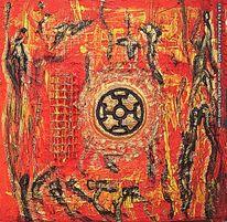 Rot, Gold, Kreuz, Krieger