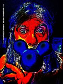 Selbstportrait, Kuss, Comic, Walt disney