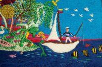 Tiere, Insel, Natur, Boot