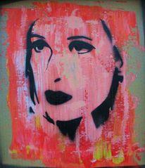 Urban art, Airbrush, Frau, Mischtechnik
