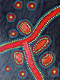 Gemälde, Blau, Aborigines, Punkt