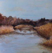 Herbst, Omsk, Brücke, Malerei