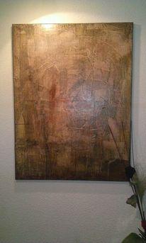 Kontrast, Acrylmalerei, Patina, Abstrakt