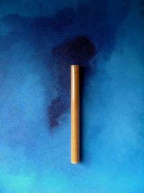 2008, Blau, Sole, Malerei