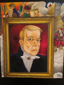 Mischtechnik, Portrait