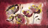 Mohnblumen, Wandbild, Blumen, Kunstdruck