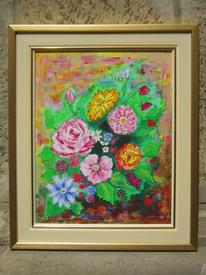 Blumenstrauß, Blumen, Gemälde, Acrylmalerei