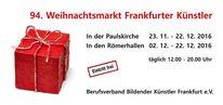 Künstlermarkt, Frankfurt, Weihnachten, Hessen