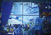 Nacht, Tee, Tiere, Winter