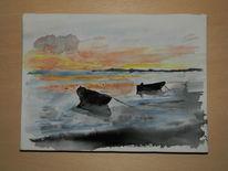 Strand, Meer, Rügen, Sonnenuntergang