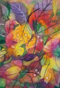 Herbst, Natur, Blätter, Aquarell