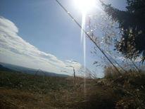 Kamera, Sonne, Berge, Wolken