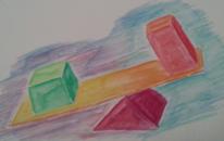 Wippen, Viereck, Dreieck, Gleichgewicht