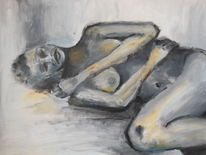 Weiblich, Acrylmalerei, Menschen, L akt