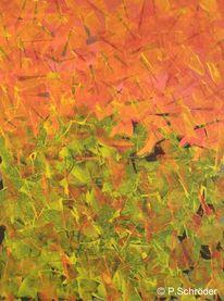 Gelb, Abstrakt, Rot, Malerei