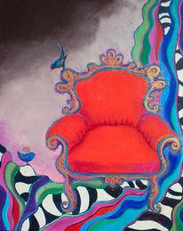 Sessel, Rot, Malerei