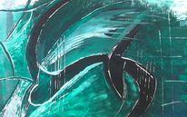 Abstrakt, Acrylmalerei, Energie, Malerei