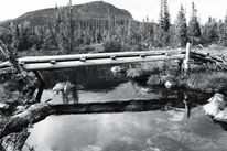 Lappland, Wanderung, Schwarz weiß, Einsamkeit