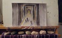 Zeichnen, Abstrakt, Ausdrucksmalerei, Pastellmalerei
